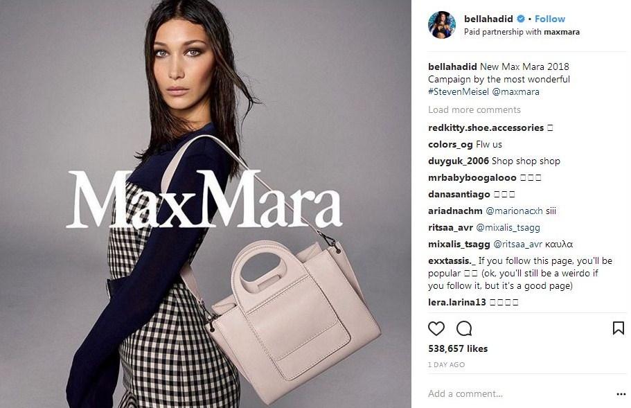 Bella Hadid è testimonial della campagna Max Mara Spring-Summer 2018 d48ec6b9289