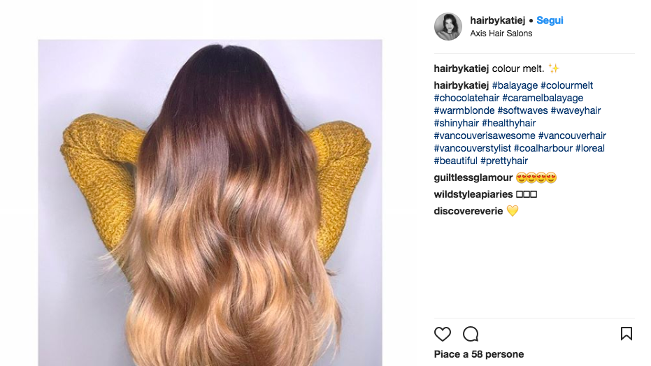 Tendenza colore capelli 2018