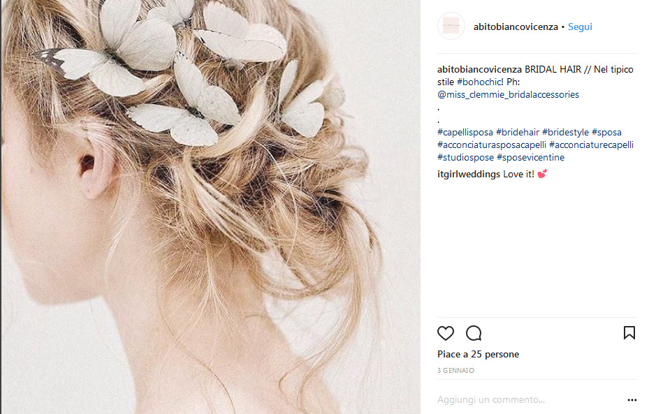 Acconciatura sposa per capelli lunghi