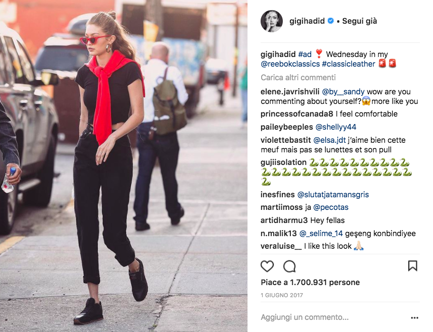 5 look di Gigi Hadid