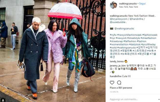 Outfit street style sotto la pioggia