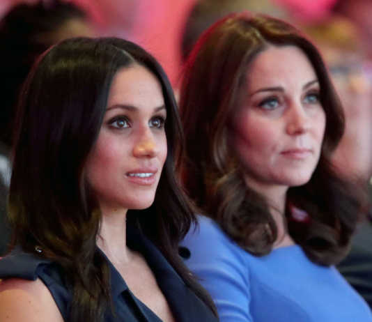 Kate Middleton e Meghan Markle con William e Harry