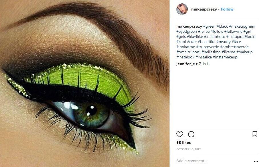 come truccare occhi verdi