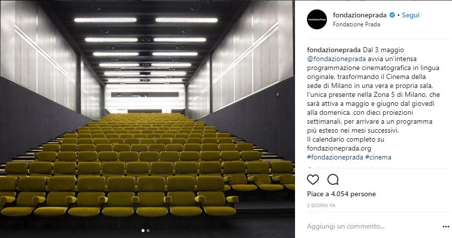 Cinema alla Fondazione Prada