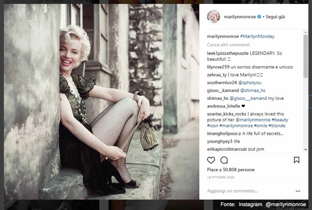 Marilyn Fonte: Instagram @marilynmonroe