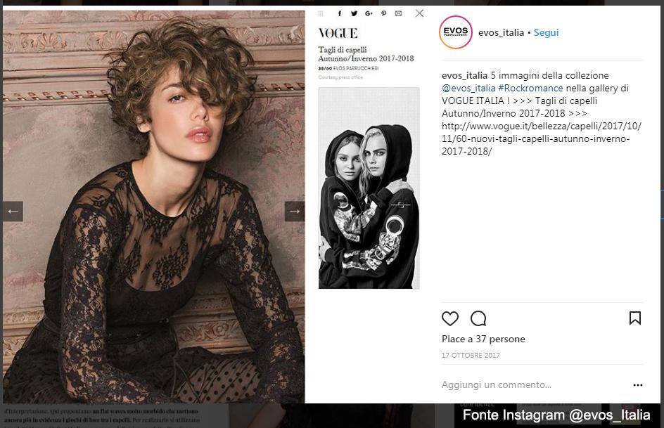 Ciuffo anche su un taglio corto per Evos Parrucchieri - Fonte: Instagram @evos_Italia