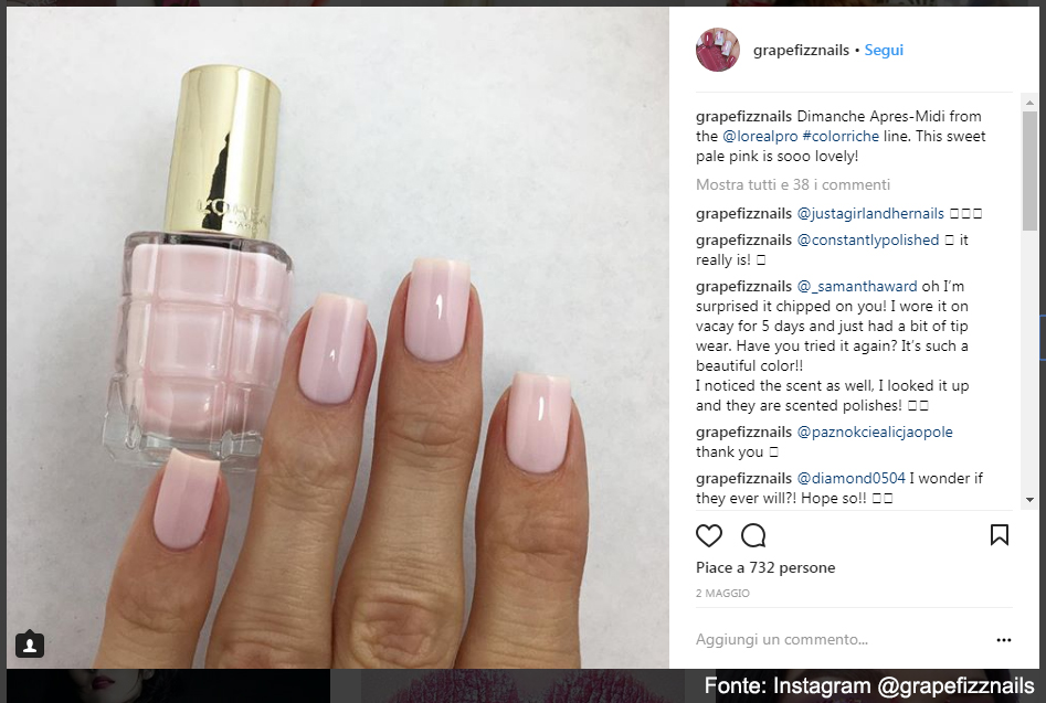 Color Riche smalto ad olio - Fonte: Instagram @grapefizznails