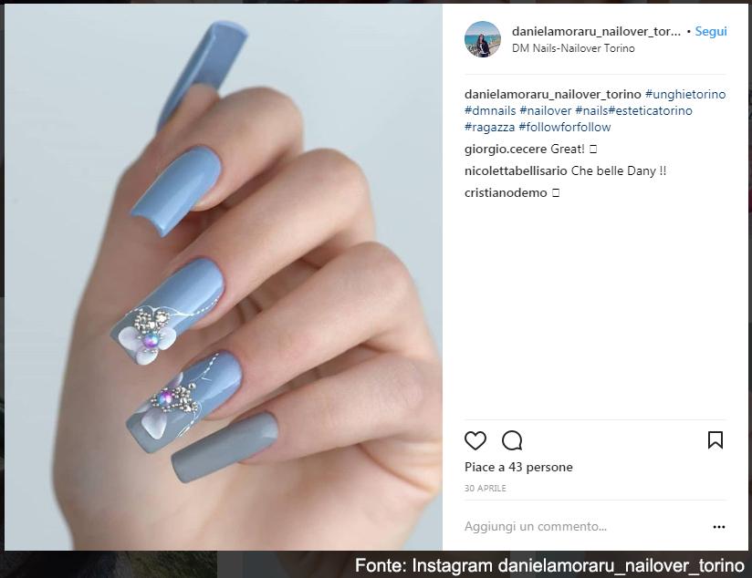 DM Nails a Torino - Fonte: Instagram danielamoraru_nailover_torino