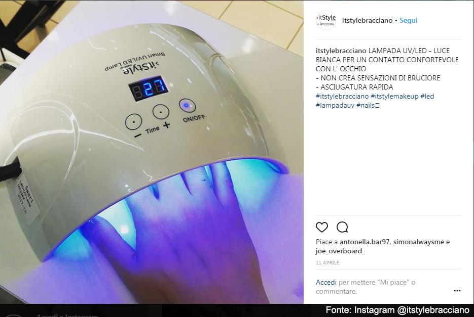 Ecco un esempio di fornetto per unghie - Fonte: Instagram @itstylebracciano