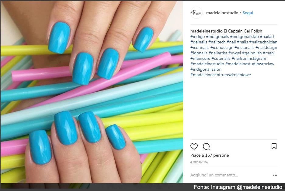 Gel color per una manicure perfetta - Fonte: Instagram @madeleinestudio