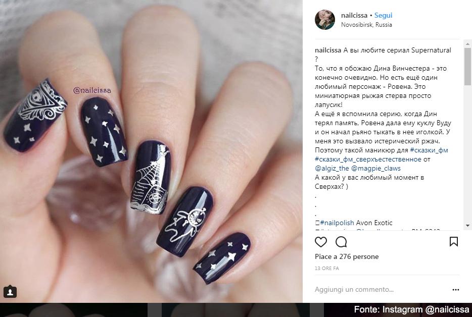 Nail art con stamping - Fonte: Instagram @nailcissa