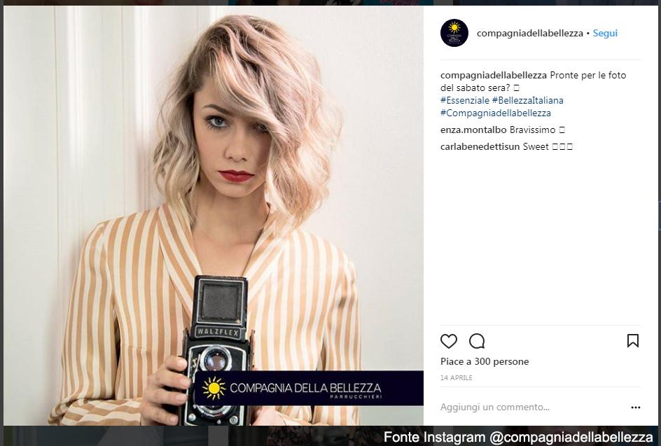 Ondulato su bob mosso Fonte Instagram @compagniadellabellezza
