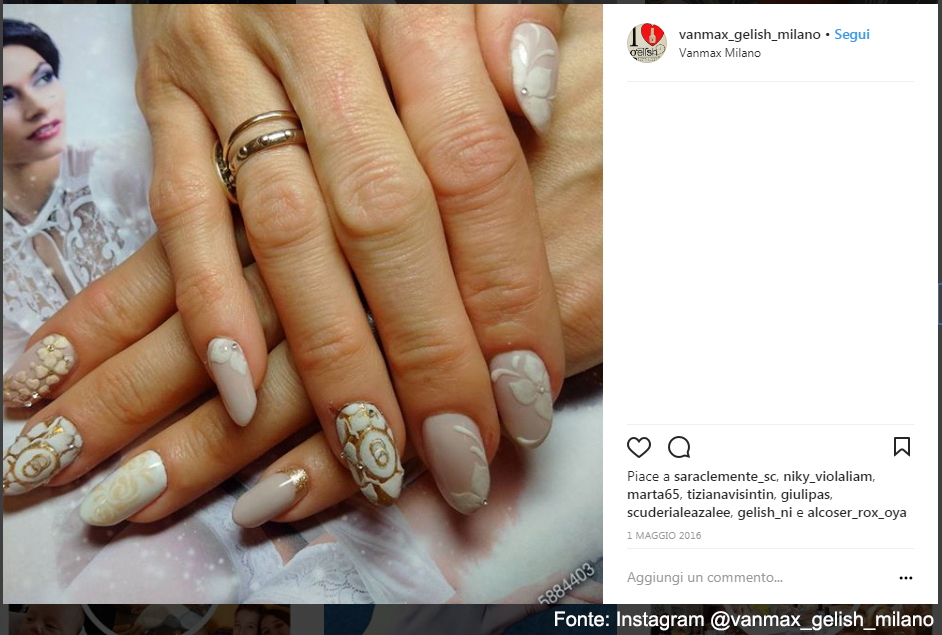 Ricostruzione e nailart by Vanmax Milano - Fonte: Instagram @vanmax_gelish_milano