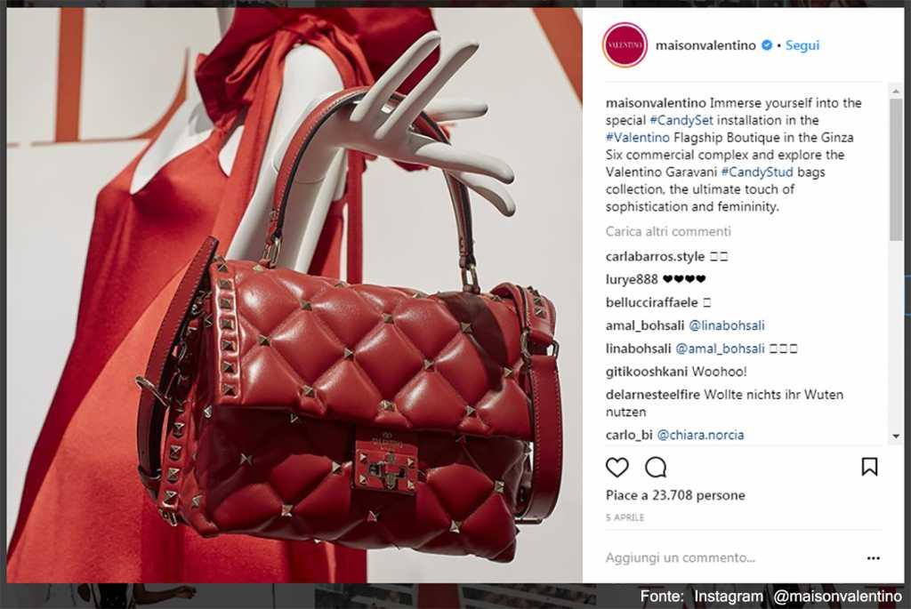 Rosso e bourdeaux - Fonte: Instagram @maisonvalentino