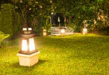 come funzionano lampade solari da giardino