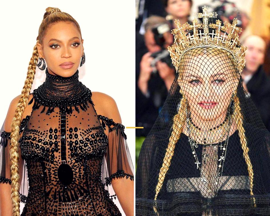 Scherzo di Madonna a Beyoncé