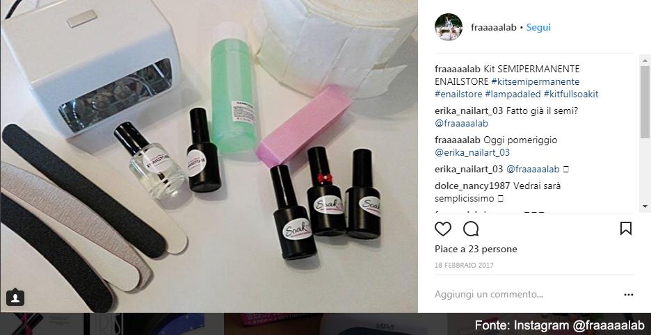 Kit semipermanente - Fonte Instagram @fraaaalab