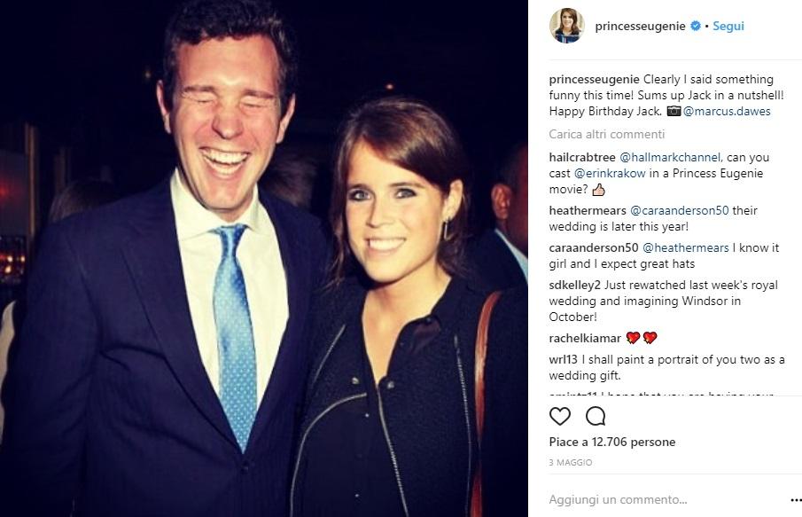 Principessa Eugenie su Instagram