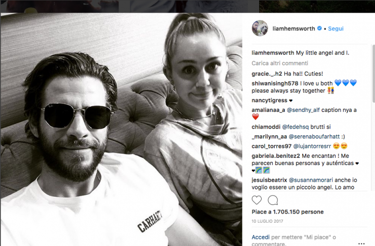 Miley Cyrus dice addio a Liam Hemsworth