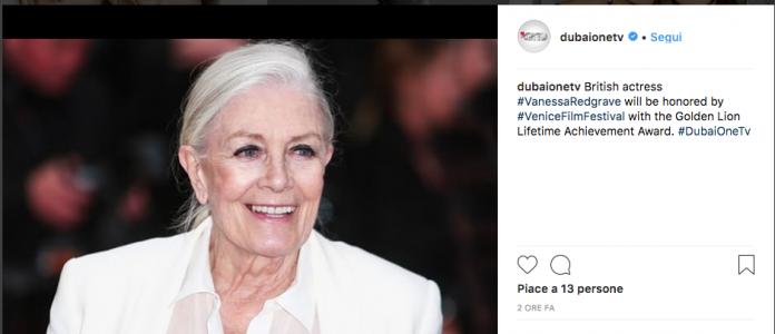 Vanessa Redgrave leone d'oro alla carriera