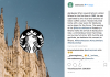 Starbucks apre a Milano (photo Instagram)